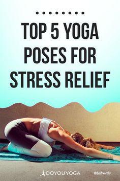 Top 5 Yoga Poses for Stress Relief #yoga #health #stressrelief #mindfulness Yoga Poses For Men, Yoga For Men, Ashtanga Yoga, Vinyasa Yoga, Kundalini Yoga, Yoga Meditation, Learn Yoga, How To Do Yoga, Yoga Moves