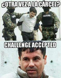 El chapo ha aceptado el reto #chapo #memes