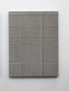 "Tauba Auerbach  Fold Painting IX,2009  Acrylic on canvas /wooden stretcher  40.16 x 29.92 x 1.18"""