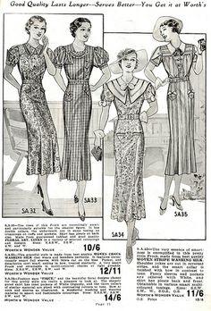 Worth's Spring & Summer 1937. #vintage #1930s #fashion #illustrations
