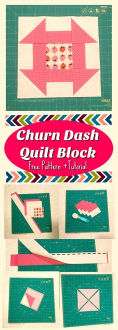 Dash Quilt Block Make this Churn Dash Quilt Block with a fast and easy tutorial and free pattern! Quilting is fun!Make this Churn Dash Quilt Block with a fast and easy tutorial and free pattern! Quilting is fun! Sewing Classes For Beginners, Quilting For Beginners, Quilting Tips, Quilting Tutorials, Quilting Projects, Beginner Quilting, Quilting Templates, Quilting Designs, Quilt Patterns