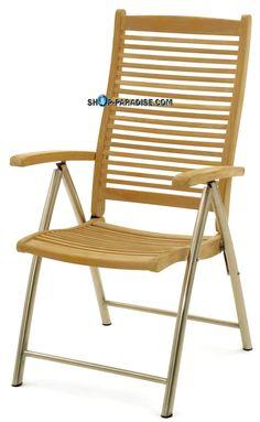 SHOP-PARADISE.COM:  Кресло Стул складной тик нержавеющая сталь Triodia 239,99 €
