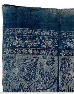 scourtneybarnes:  vintage indigo-dyed batik from jayson home