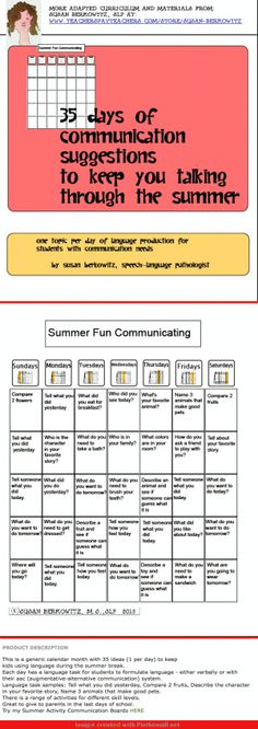 http://www.teacherspayteachers.com/Product/FREE-Summer-Communication-Fun-for-students-who-need-language-support-669053 - created via http://pinthemall.net