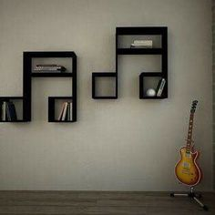 brilliant ideas of lasido bookcase wall shelf black decortie houzz com reference 2 Cool Bookshelves, Bookcase Wall, Wall Shelves, Bookshelf Ideas, Book Shelves, Bookcases, Music Bedroom, Music Rooms, Decorating Rooms