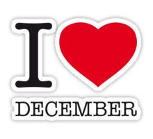 I ♥ DECEMBER Sticker