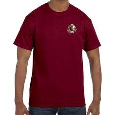 Welsh Springer Spaniel Embroidered Mens T-Shirts