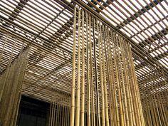 Bamboo Wall -Architect : Kengo Kuma - Photo by Hira1O, via Flickr