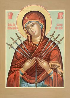 "Icon of the Theotokos, ""Softener of Hardened Hearts"" (Our Lady of Sorrows)"