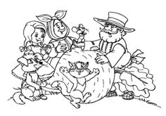 Fekete-fehér sziluettek karalábé Nursery Rhymes, Views Album, Coloring Pages, Fairy Tales, Paper Crafts, Facebook, Games, Sketches, 5 Years
