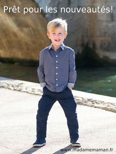 Pantalon JEAN patron garçon et bébé Madame Maman Madame, Jeans, Couture, Tops, Women, Style, Fashion, Sewing Pants, Sewing Shirts