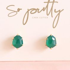 I'm a gem hunter at heart and when our newest shade of green onyx mini HONOUR studs arrived yesterday they took my breath away. How…