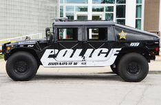 Broadview Police Hummer with Federal Signal Valor lightbar