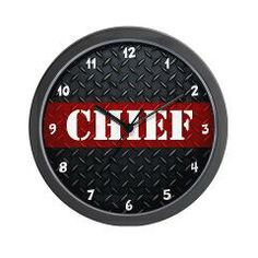 Chief Firefighter Diamond Plate Wall Clock > Fire and Rescue Clocks > The Art Studio by Mark Moore