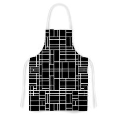 "Project M ""Map Outline Black"" Simple Geometric Artistic Apron"