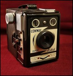 Conway Super Flash Box Camera  Vintage Lomography  - Lomo ready cameras   - Vintage collectible cameras    www. Etsy.com/VintageLomography