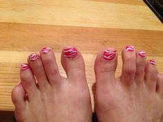Pink zebra pedi