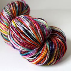 Hand Dyed  Handpainted Sock Yarn  Fingering by SpunRightRound, $19.00