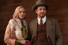 "first look at Jen Lawrence & Bradley Cooper in retro-thriller ""SERENA"""