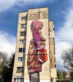 street art by Etam Cru in the Hazdhi Dimitar neighborhood, Sofia | Read my blogpost here: http://www.blocal-travel.com/balkans/top-5-off-the-beaten-path-spots-in-sofia/