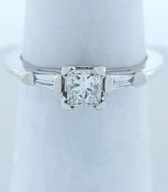 .56ct DIAMOND PRINCESS ENGAGEMENT WEDDING FINE SOLITAIRE RING PLATINUM GOLD