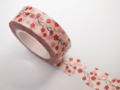 10 meters of amazing floral patterned washi tape!