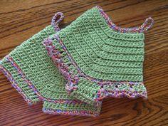 Panty and Shorts Crochet Potholders
