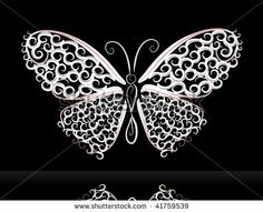 lace butterfly - stock vector Lace Butterfly Tattoo, Dragonfly Tattoo, Lace Tattoo, White Butterfly, Butterflies Flying, Linens And Lace, Free Graphics, Tattoo Designs, Tattoo Ideas