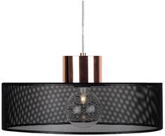 Für herrlich schöne Momente zaubert Ihnen Pendelleuchte NATE ein angenehm weiches Licht in Ihr Zuhause. Sie besticht durch ihren runden schwarzen Lampenschirm und der kupferfarbenen Fassung, die sie zu einer anmutigen Schönheit werden lassen.