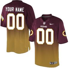 Nike Washington Redskins Customized Burgundy Red Gold Men s Stitched Elite  Fadeaway Fashion NFL Jersey Redskins f449fb23c