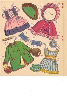 Big 'n' Easy Paper Dolls 'n' Clothes by Charlot Byi (6 of 8), Merrill #344210: Sandy & Candy