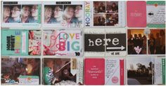 Project Life Week 10 by Miis for Scrap-Perra, using Strawberry core kit from Becky Higgins.