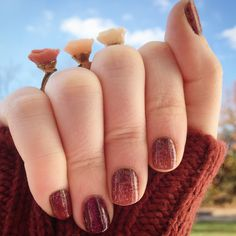Jamberry - Autumn Romance & Bordeaux Gel - (DIY nail art, nail wraps, gel enamel, manicure, autumn, fall, maroon, color pop, shimmer, flowers)