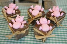 Pigs in the mud at a farm birthday party! See more party planning ideas at CatchMyParty.com!