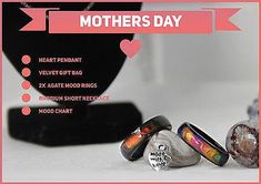 Mothers Day Special 2x Genuine Black Agate Colour Changing Mood Rings + More !! #jewellery #mitpaw #Necklace $24.97 https://mitpaw.com