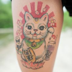 Maneki-Neko-Lucky-Cat-Tattoo.jpg (700×700)