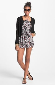 Fire Ruffle Front Romper (Juniors) (Online Exclusive) available at #Nordstrom