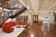 Kontour Lounge(red) from Davis Furniture - Paric Corporate Headquarters St. Louis, MO | Lawrence Group #architecture #interiordesign