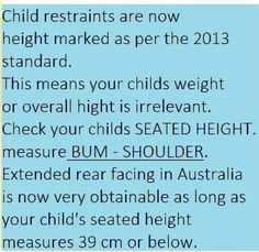 Extended Harnessing - Type G seats | Car Seat Safety Australia ...