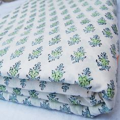 Hand Printed Fabric, Printed Cotton, Indian Block Print, Batik Prints, Bed Pillows, Cotton Fabric, Crafts, Yard, Ebay
