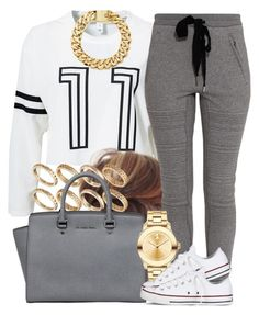 """""""White 11."""" by livelifefreelyy ❤ liked on Polyvore featuring Estradeur, 3.1 Phillip Lim, ASOS, MICHAEL Michael Kors, Movado and Converse"""