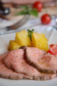 Roastbeef al sale con patate sabbiose