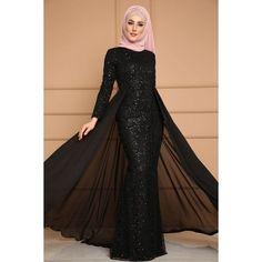 Commandez 2019 Women Abaya Koran Muslim Kaftan Hijab Burqa Lace Long Sleeve Islamic Maxi Dress sur Wish - Acheter en s'amusant Muslim Prom Dress, Hijab Prom Dress, Hijab Evening Dress, Hijab Style Dress, Prom Dresses With Sleeves, Dress Outfits, Evening Dresses, Mermaid Evening Gown, Abaya Mode