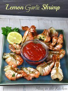 Lemon Garlic Shrimp Miss in the Kitchen