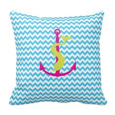 Chevron Pattern Anchor with Dolphin Pillow