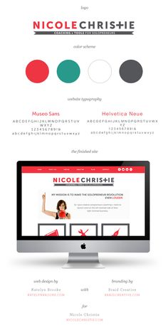Nicole Christie, branding by Braid Creative, web design by Katelyn Brooke || katelynbrooke.com