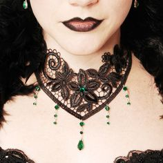 Gothic lace Victorian Steampunk choker with by DarkEleganceDesigns, $31.00