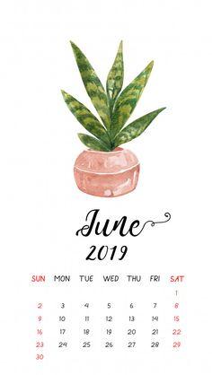 Watercolor cactus calendar for June Premium vector - June 2019 calendar June Calendar Printable, June 2019 Calendar, Cute Calendar, Printable Planner, Print Calendar, November 2019, Samsung Wallpapers, Cute Wallpapers, Iphone Wallpaper