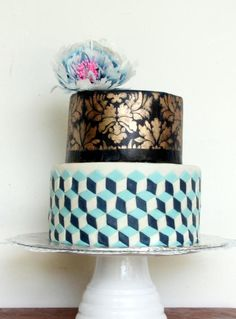 optical illusion cake - Cake by sivathmika