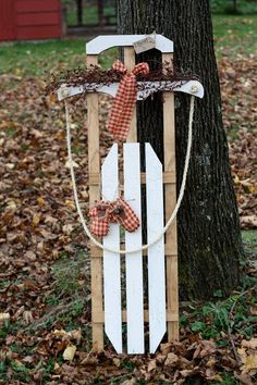 Holiday Sled Decoration / Christmas Sled by FairgroundRoad on Etsy, $120.00